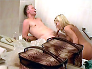 Hot horny chick screwed hard in the bathtub