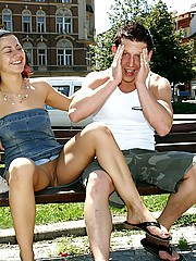 Naughty willing teens doing it on several public places