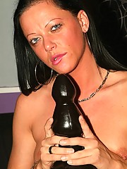 Chick riding black dildo