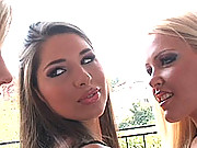 Lesbian threesome of Sophie Moone, Tiffany Rousso & Zafira