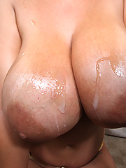 Jaylene with HUGE freaks of boobs gets her pussy ripped a new one!