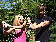 Teen Nicole Ray gets fucked hard after golf lessons!