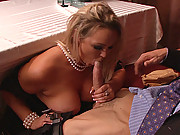Busty Chick loves hard cock inside her tight wet pussy