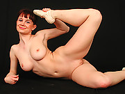 Ballerina Franzi showing streching