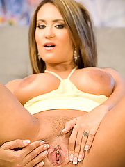 Trina Michaels shows off her heavy artillery