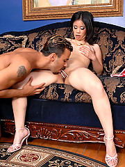 Super hot asian babe get fucked hard after some chinese food in these sexy lingerie cumfaced pics