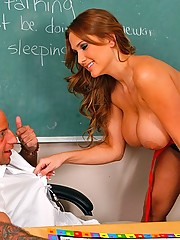 Alanah Rae fucks the janitor as a distraction