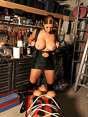 Sexy young babes Carol & Jannete in bondage set of prices