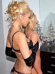 Watch these hot lesbians seduce their maid into a hot lesbo fuck fest in these hot pics and big movie