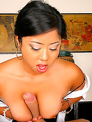 Check out hot big tits asian babe get fucked hard after a massage in these hot cumfaced pics