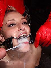 Mallory gets brutally dominated, fucked and cum covered!