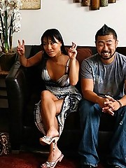 Asa Akira slams the therapist while her husband is oblivious of the situation