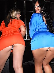 Watch these 3 hot fucking club babes get rammed in the club in this hot group sex fucking picset