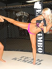 Smoking hot ass big tits lesbians dildo fuck their hot pussys in these lesbo cage fighting pics