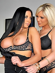Super hot audry bitoni and her big tits porn star babe share their wet pussies in these hot finger fucking licking lesbo big pics