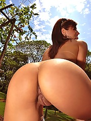 Smoking hot ass brazilian bombshell hangs out on the waterfall then takes a huge log up her amazing ass in these hot cumfaced hard fucking pics