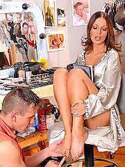 Hot young brunette babe Debbie White