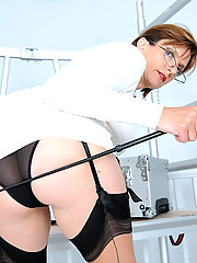 Riding crop nylons mature mistress