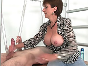 English hot wife giving a handjob