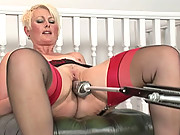 Mature sally fucked by a machine