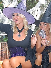 Watch these hot holloween lesbian babes share their candy sticks in these hot pussy fucking wet dressed up costume fucking pics