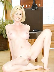 Tall skinny blonde cougars pussy takes all it can handle