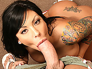 Busty Bitch fucking the reatrds huge cock