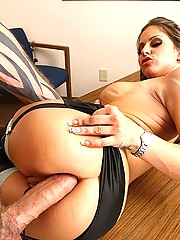 Rachel Roxxx unchains a big cock and fucks it hard