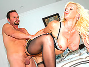 Big titty milf gets fucked hard in her tight stockings box in these hard cumfaced 4 vids