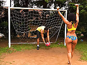 Super hot big tits brazilian babe gets her bikini soccer playing ass and pussy fucked hard in these after gave reality fucking vids