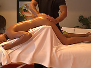 Super hot cutie gets seduced by perverted masseuse!