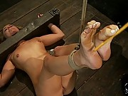 Isis Love shocks, face and pussy fucks cute, blond, college girl without mercy.