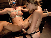 Busty blond submissive gets dominated, fisted and ass fucked.