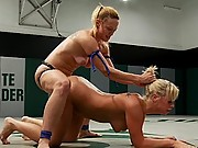 19 year old blond get her ass kicked, made to lick pussy!