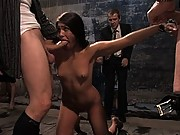 Jade Indica is bound helpless and used by a roomful of horny men and women