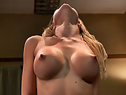 Penthouse Pet, Shawna Lenee, machine fucked by HUGE cock on a fuck saw. Cums from pussy stretching and machine pounding. Her perky tits swaying with e