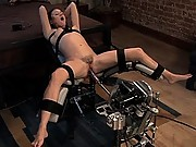 Sindee Jennings machine fucked, squirts cum everywhere, gets pounded in the ass but a robot