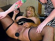 Porn legends Debi Diamond & Kylie Ireland fuck for the first time