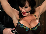 Lisa Ann, hot big titted, Milf, bound and made to cum!