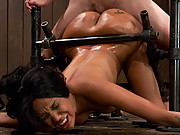 Bound and helpless Kapri Styles