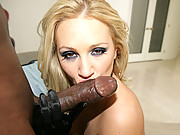 """""""Perky blonde Alexis Malone gets fucked hard by a throbbing black dick in this video"""""""