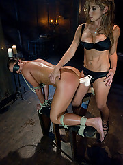 Latinas in lesbian domination and huge strap-on cocks.