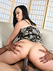 Asian Bella Ling Messages Monster Cock With Tight Twat