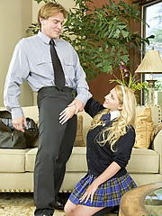 Jessie Stone Begs For Beefy Cock To Slam Shaved Beaver