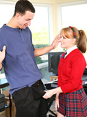Innocent Redhead Carolina West Gets Tiny Snatch Abused