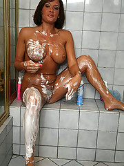 """""""Tory Lane shaves in the shower before touching herself in these pics"""""""