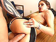 Dirty girl Rachel Roxxx pounding her luscious ass on a hard cock