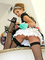 """A Super hot french nanny named Mia Rose rides a big stiff cock"""