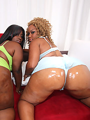 Phat ass black slut getting her pussy shattered!