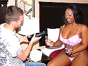 Big ass big tits ebony freak gets cum faced after riding a big dong in these hot vids